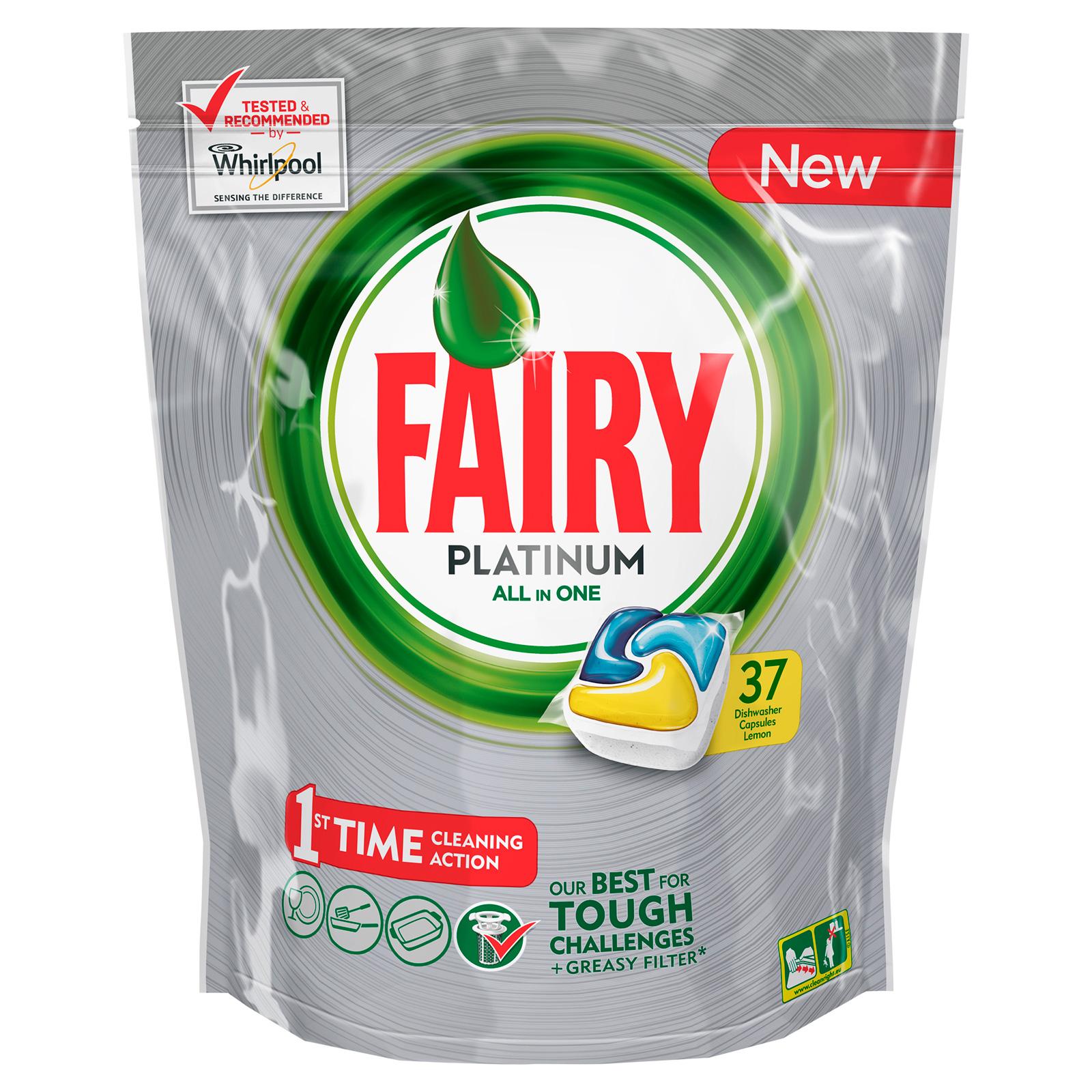 Капсулы для посудомоечной машины FAIRY Platinum All In One Лимон (37 шт)<br>
