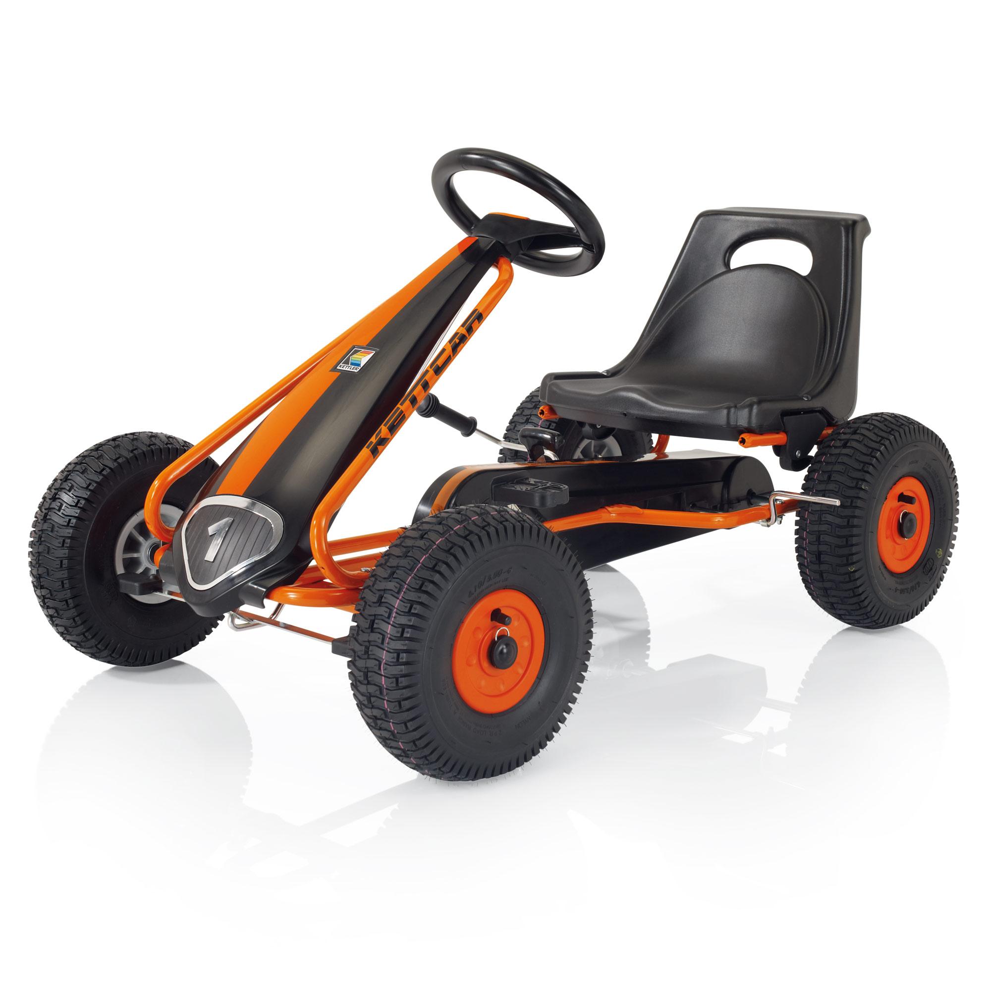 Педальная машина Kettler Кетткар Suzuka Air Черная с оранжевым<br>