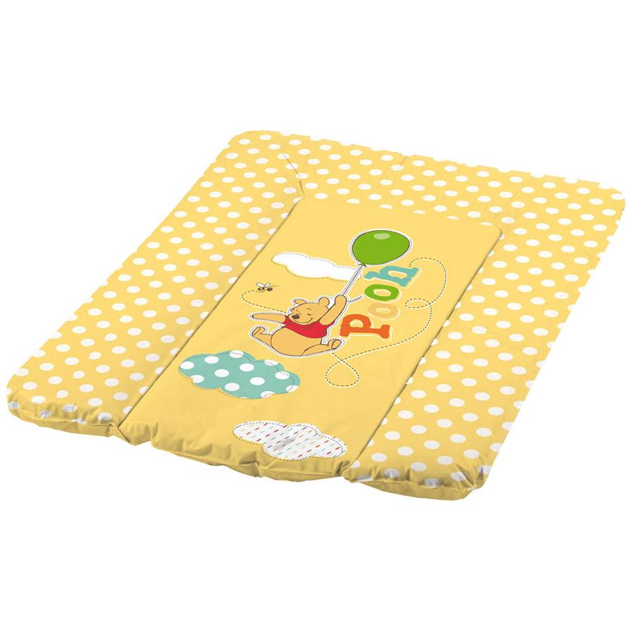 Пеленальный матрасик OKT с мягким основанием 50х70 Винни Пух Желтый<br>