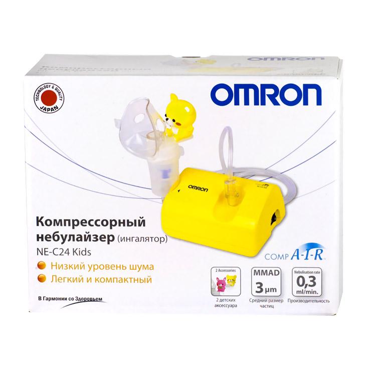 Ингалятор Omron CompAir Kids компрессорный + 2 аксессуара-игрушки