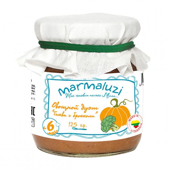 Пюре Marmaluzi овощное 125 гр Овощной Дуэт 125 гр с 6 мес<br>