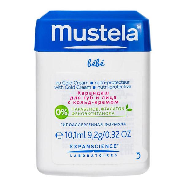 Карандаш для губ и лица с кольд-кремом Mustela 10,1 мл<br>