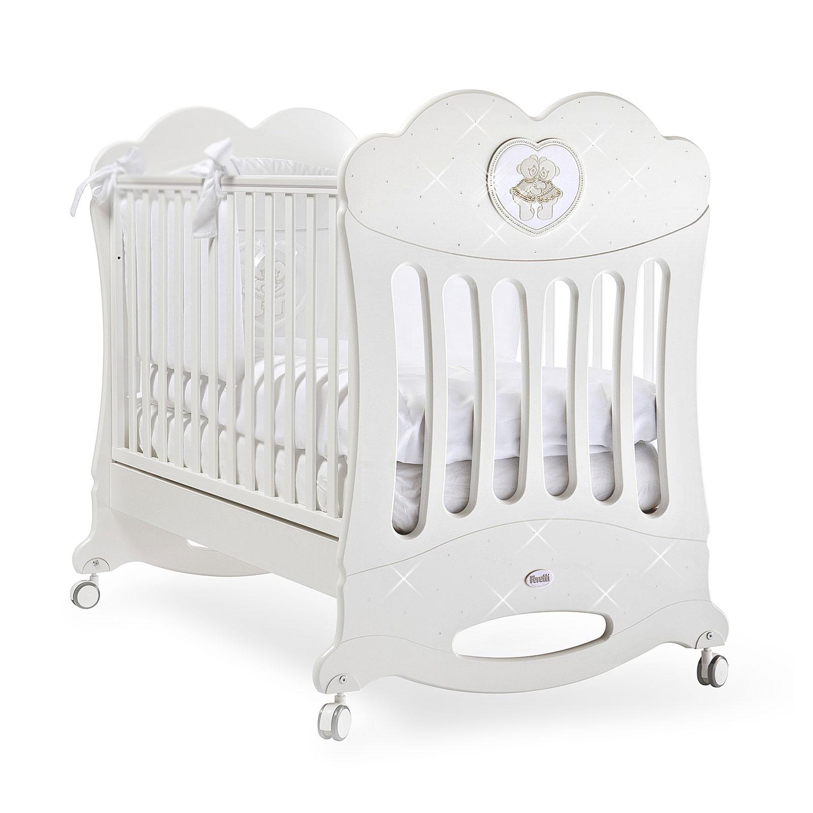 Кроватка Feretti Chaton 125x65 качалка Bianco/White<br>