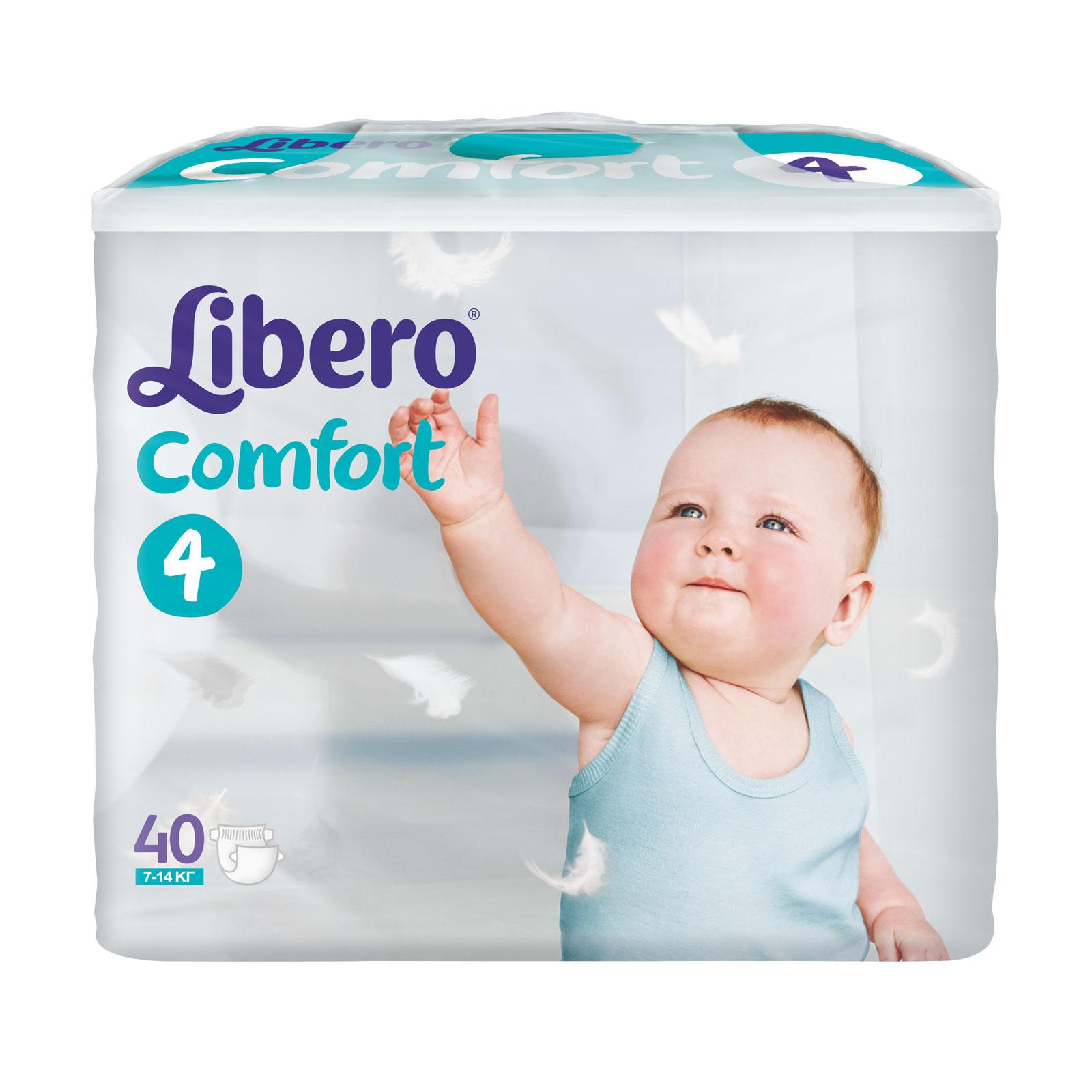 Подгузники Libero Comfort Maxi 7-14 кг (40 шт) Размер 4<br>