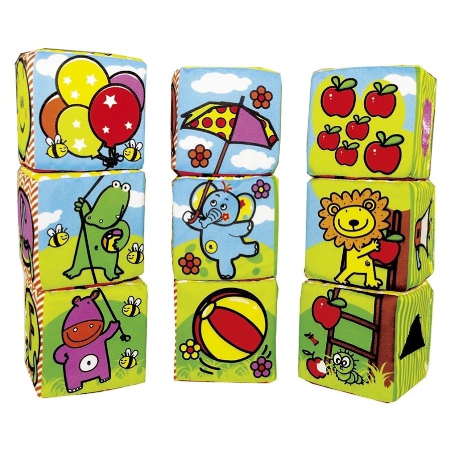 Мягкие кубики Biba Toys Мои друзья из джунглей<br>