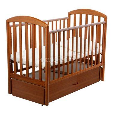 Кроватка Papaloni Джованни 120х60 маятник продольный Орех