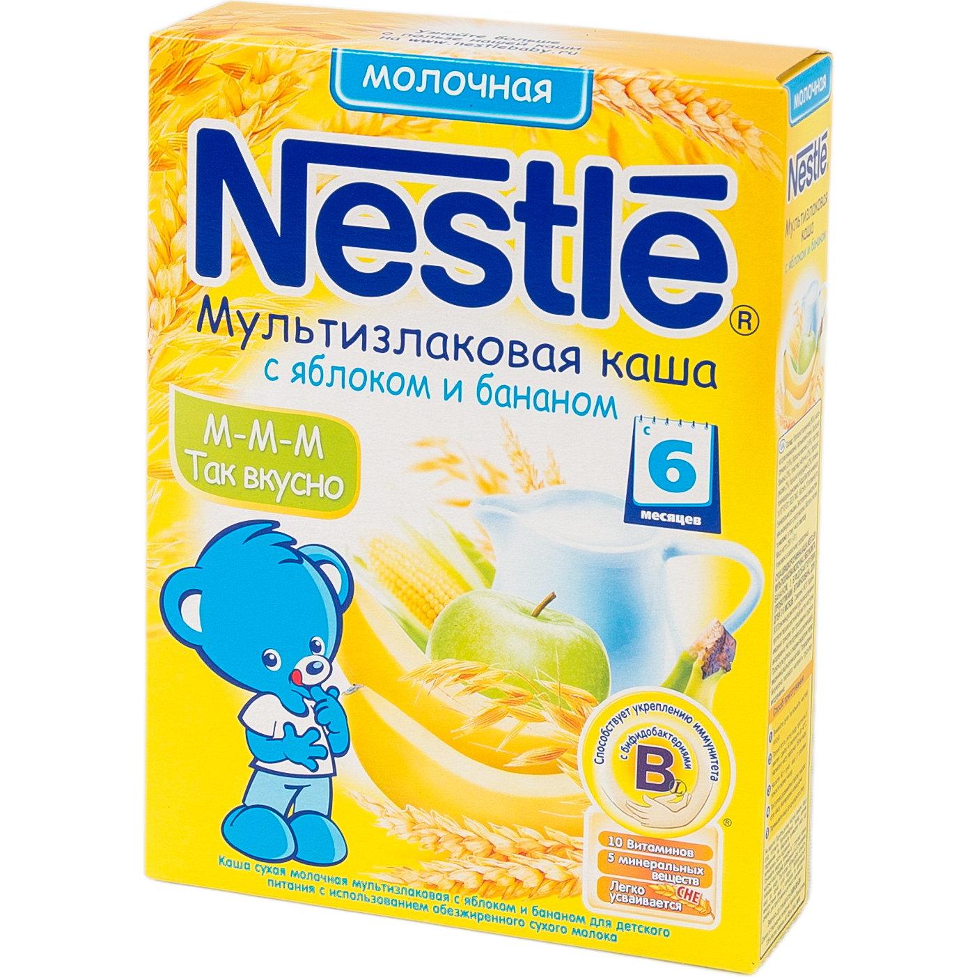 Каша Nestle молочная 250 гр Мультизлаковая с яблоком и бананом (с 6 мес)<br>