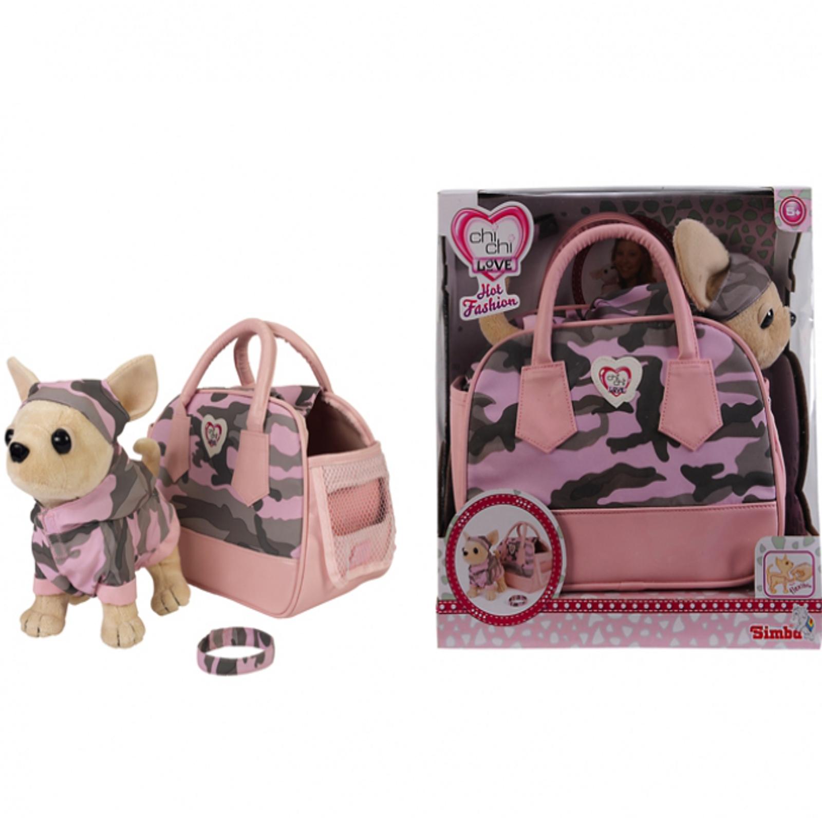 Игровой набор Simba Плюшевый Чихуахуа  с сумкой, ошейником и браслетом с 3 лет. (20 см.)<br>