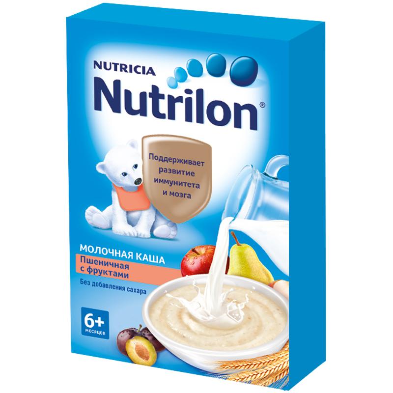 Каша Nutrilon молочная 225 гр Пшеничная с фруктами (с 6 мес)