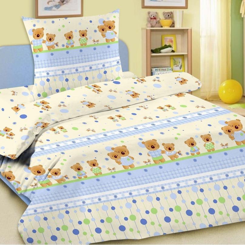 Комплект постельного белья детский Letto в кроватку BG-15<br>