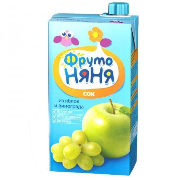Сок Фрутоняня 500 мл Яблоко виноград (с 3 лет)<br>