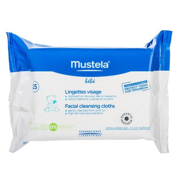 Очищающие салфетки для лица Mustela №25<br>