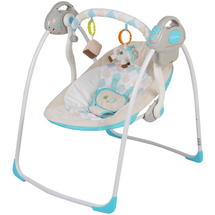 Электрокачели Baby Care Riva с адаптером Синий<br>