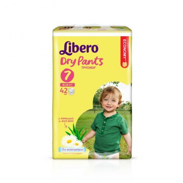 Трусики Libero Dry Pants Extra Large+ 16-26 кг (42 шт) Размер 7<br>