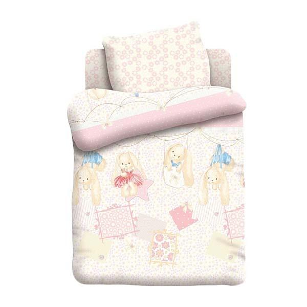 Комплект постельного белья детский бязь Непоседа Н/У на резинке Зайки<br>