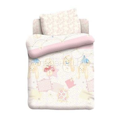 Комплект постельного белья детский бязь Непоседа Н/У на резинке Зайки