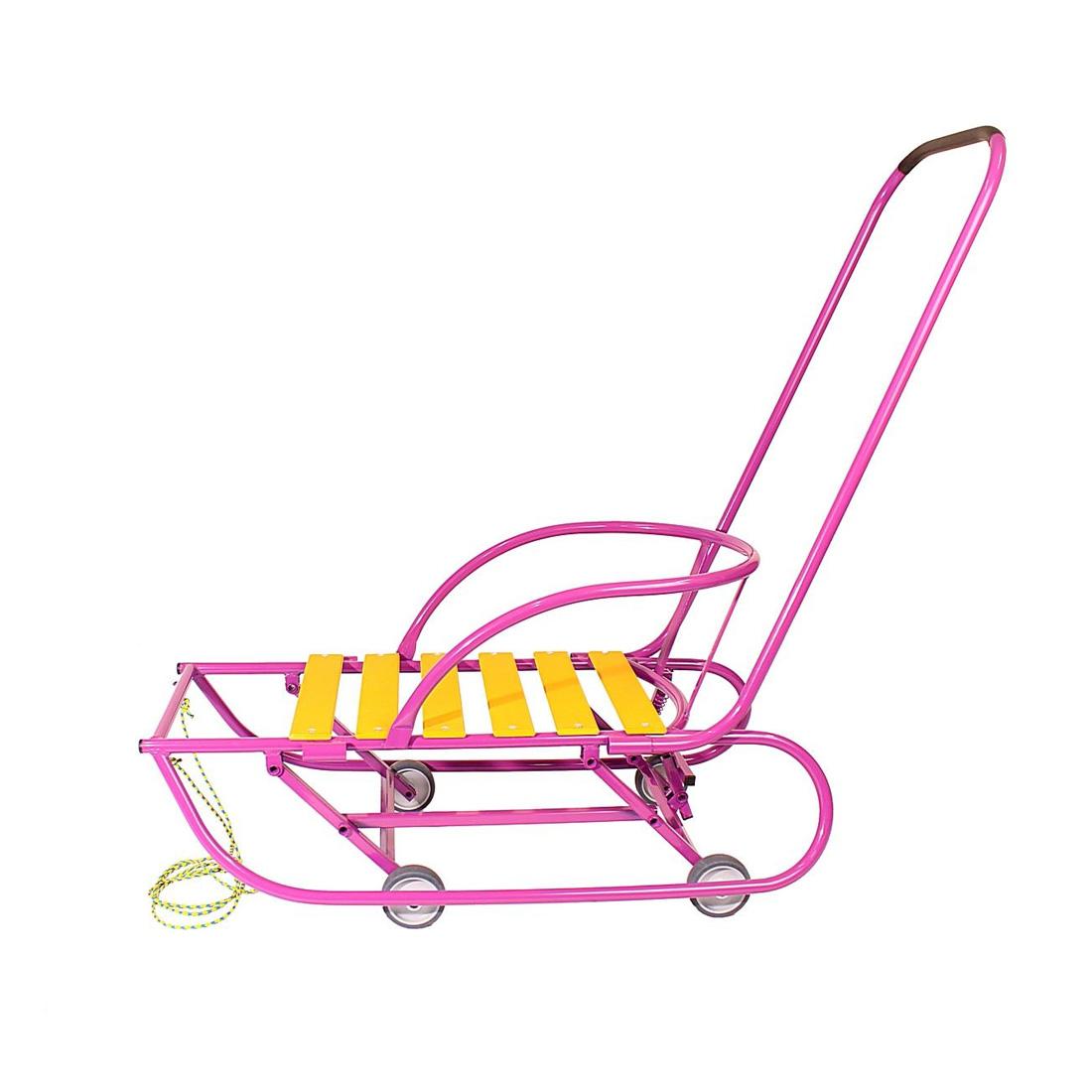 Санки детские Санимобиль Базовый с педальным механизмом Сиреневый