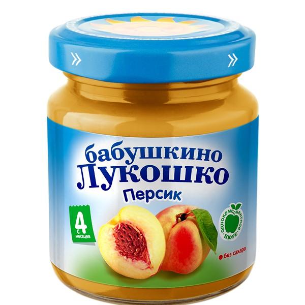Пюре Бабушкино лукошко фруктовое 100 гр Персик (с 4 мес)<br>
