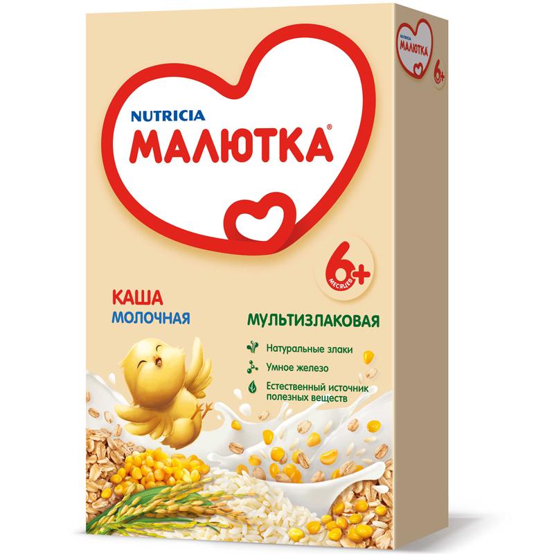 Каша Малютка молочная 220 гр Мультизлаковая (с 6 мес)<br>