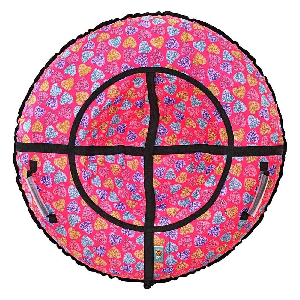 Тюбинг RT Сердечки Розовый 118 см<br>