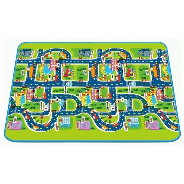 Детский развивающий коврик Mambobaby односторонний Город 130х160х0.5<br>