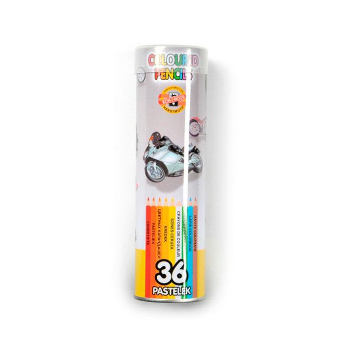 Набор карандашей цветных KOH-I-NOOR 36 цветов в металлическом пенале<br>