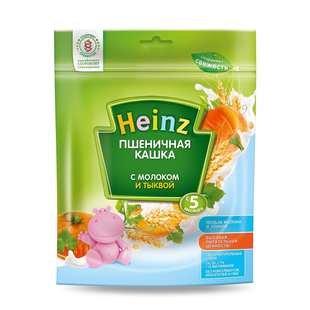 Каша Heinz молочная 250 гр Пшеничная с тыквой (с 5 мес)<br>