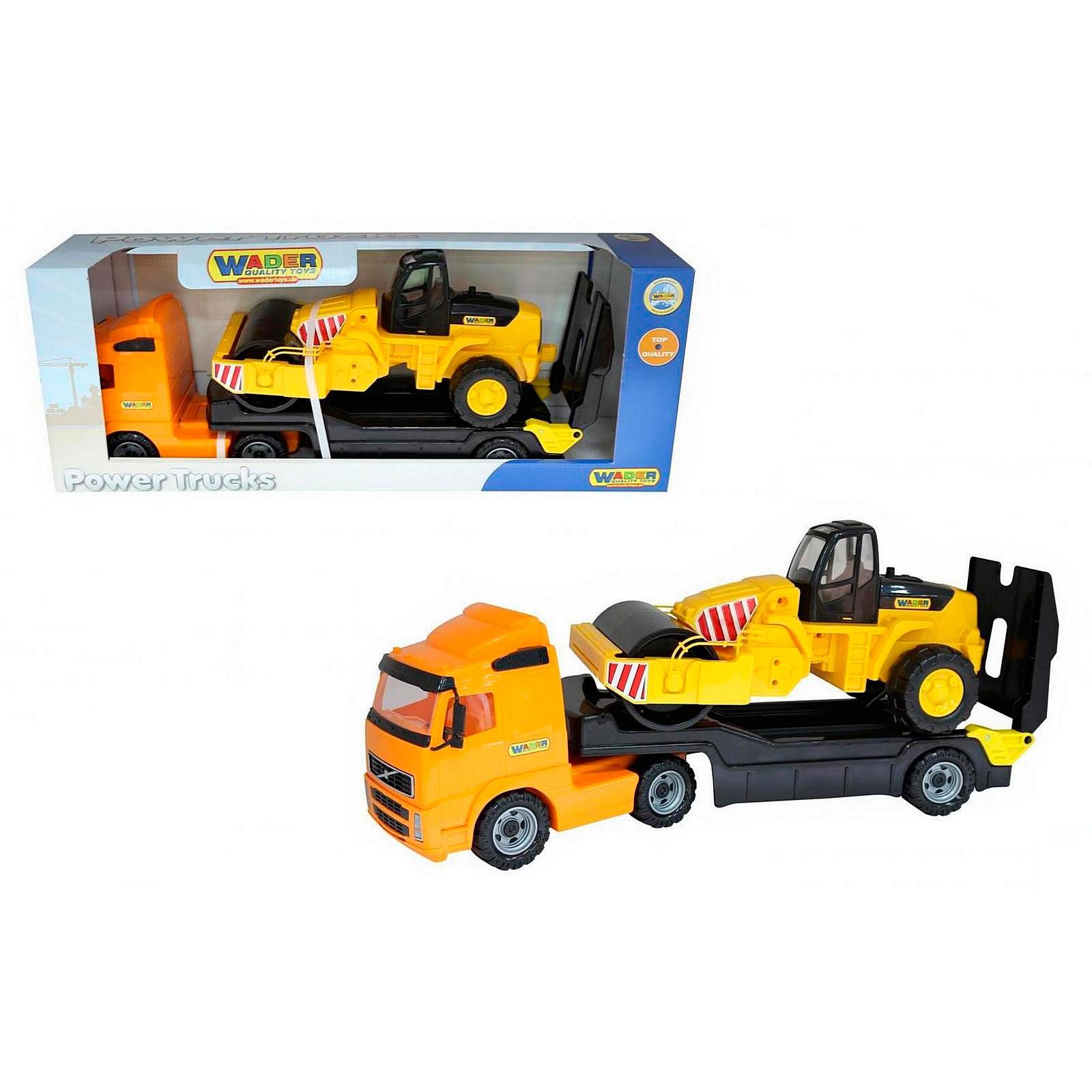Автомобиль-трейлер Wader Дорожный каток в коробке 9630<br>