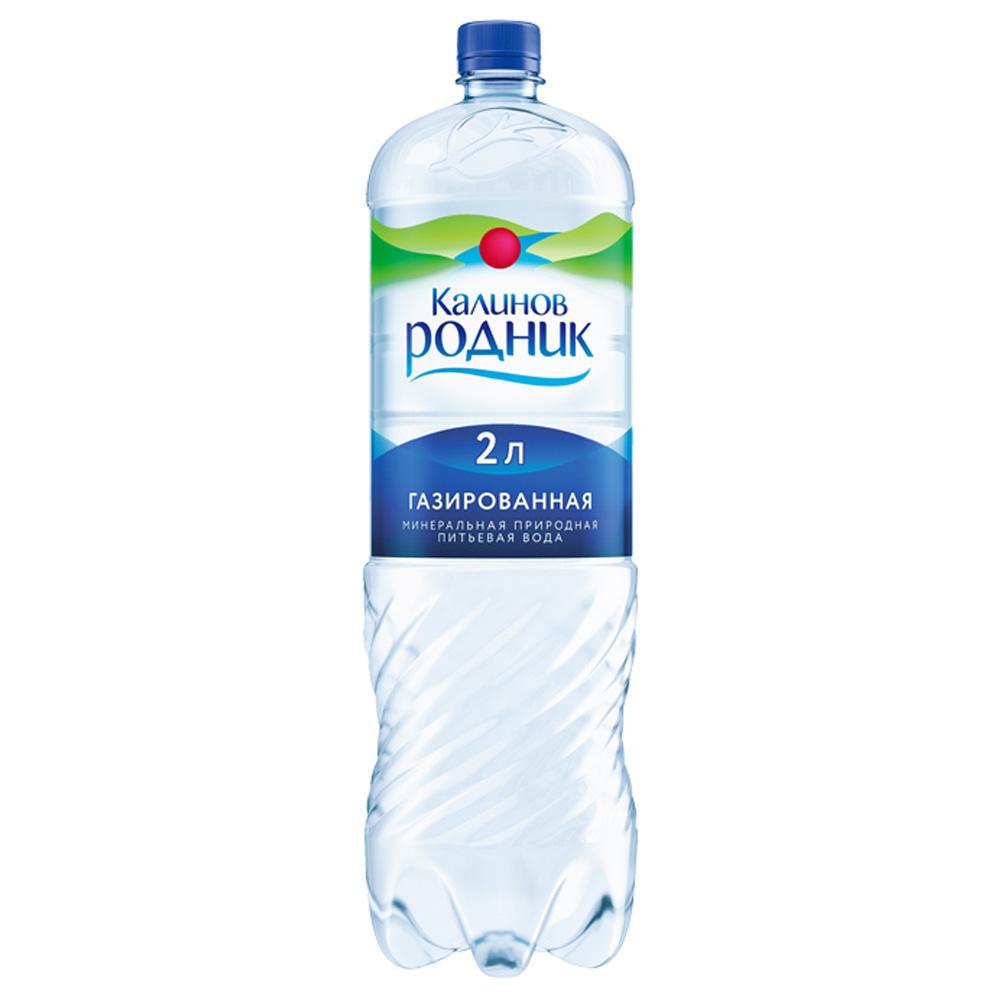 Вода Калинов Родник минеральная природная газ 2 л