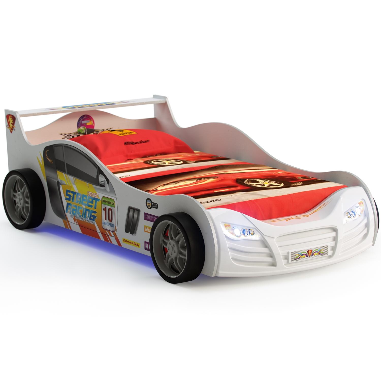 Кровать-машинка Grifon Style R800 Mini night light Белоснежный<br>
