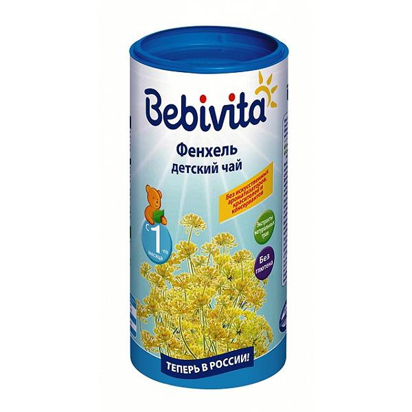 Чай детский Bebivita быстрорастворимый 200 гр Фенхель (с 4 мес)
