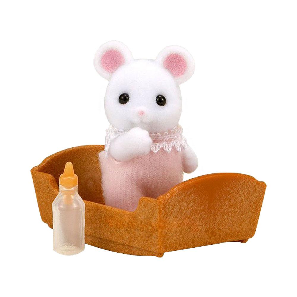Фигурки животных Sylvanian Families Малыш Белый Мышонок<br>
