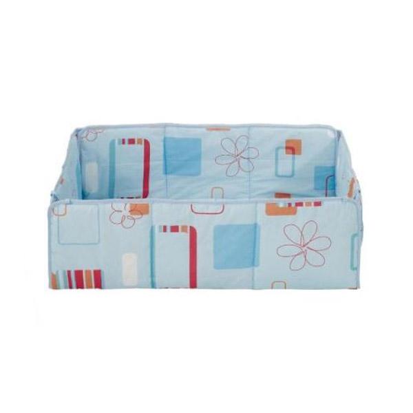 Подушка для квадратного манежа Kettler 80х80х2 см Голубой с цветочным мотивом