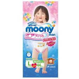 Трусики Moony для девочек 9-14 кг (44 шт) Размер L 2016 год