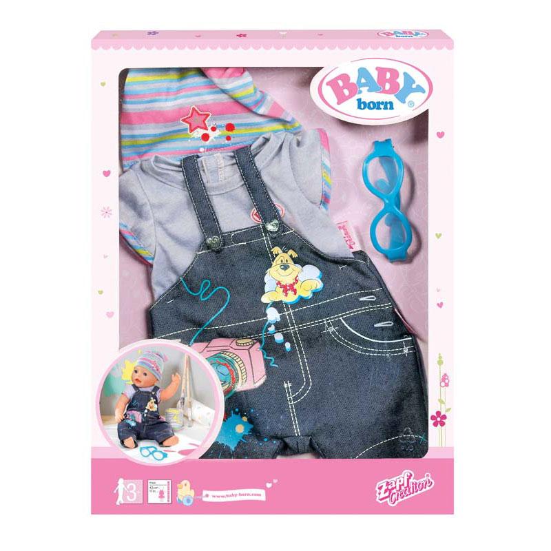 Одежда для кукол Zapf Creation Baby Born Джинсовая в ассортименте<br>