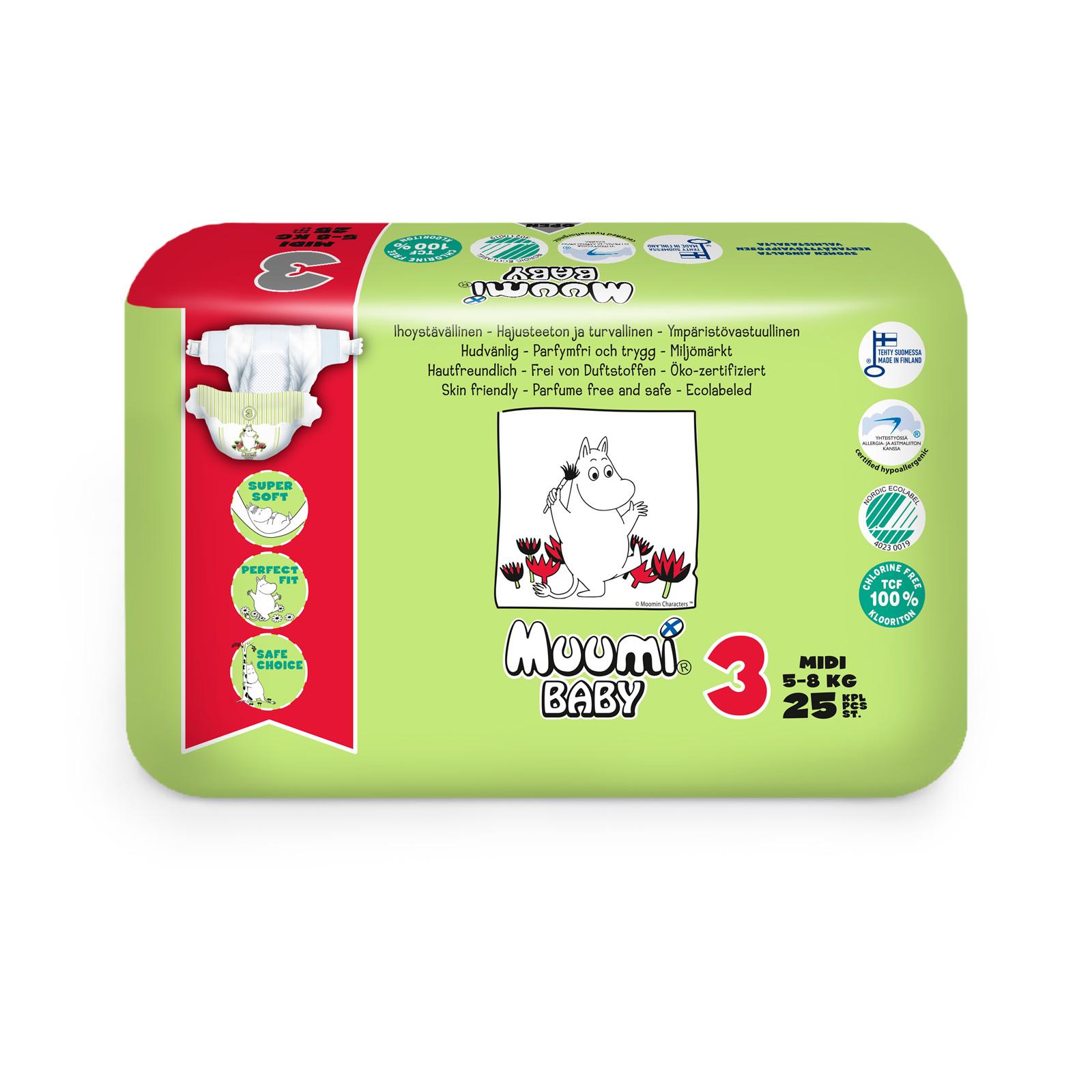Подгузники Muumi Baby Midi 5-8 кг (25 шт)<br>