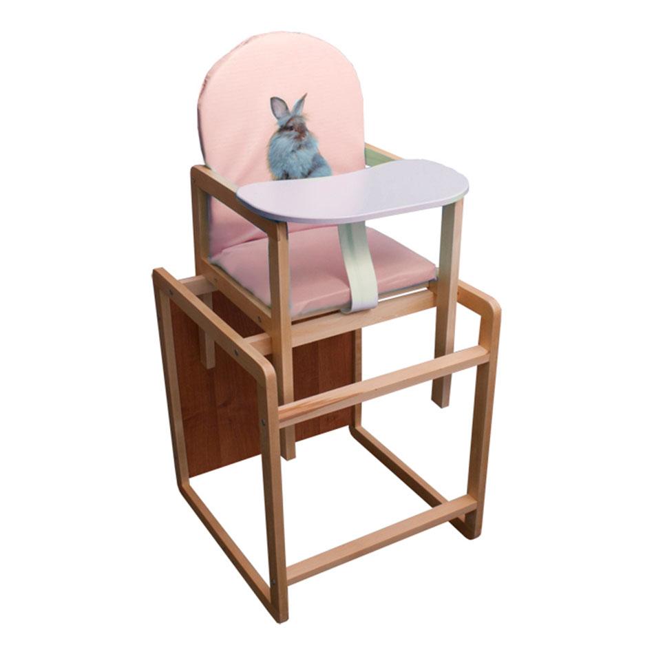 Стульчик для кормления Папа Карло Кролик Розовый<br>