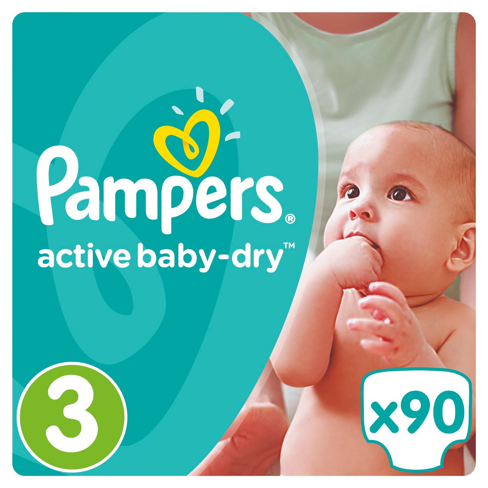 Подгузники Pampers Active Baby Midi 5-9 кг 90 шт (3) Размер 3<br>