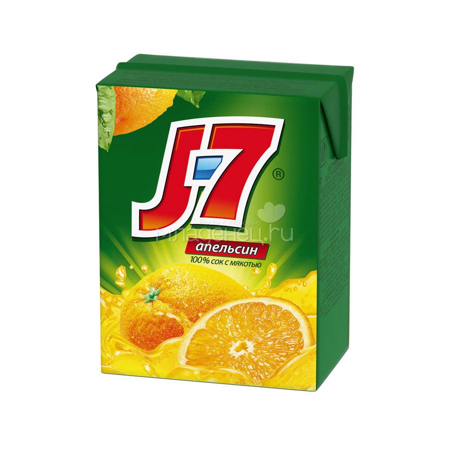 Сок J-7 0,2 л Апельсин