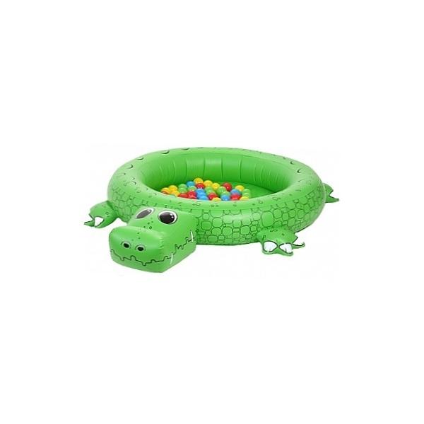 Сухой бассейн Upright надувной Крокодил + 50 шаров<br>