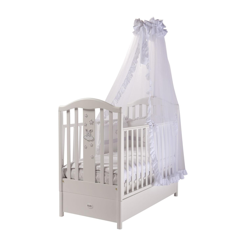 Кроватка Feretti Romance FMS маятник Bianco/White<br>