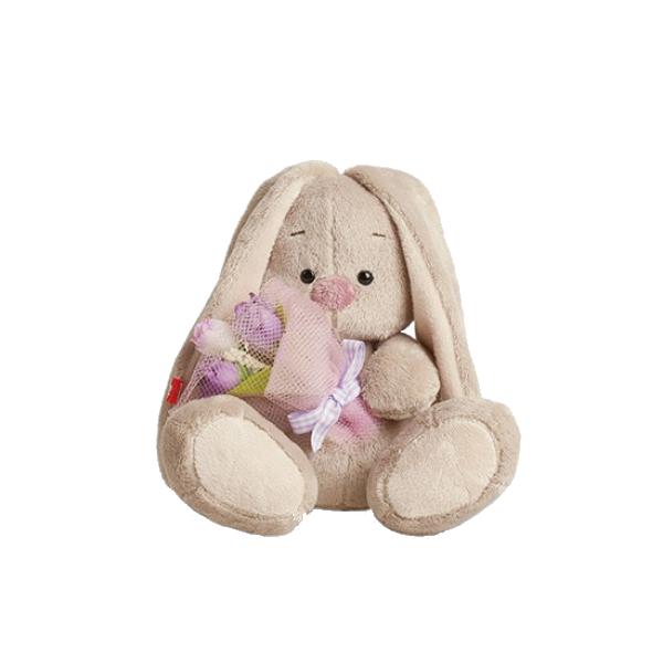 Мягкая игрушка Зайка Ми с фиолетовым букетом