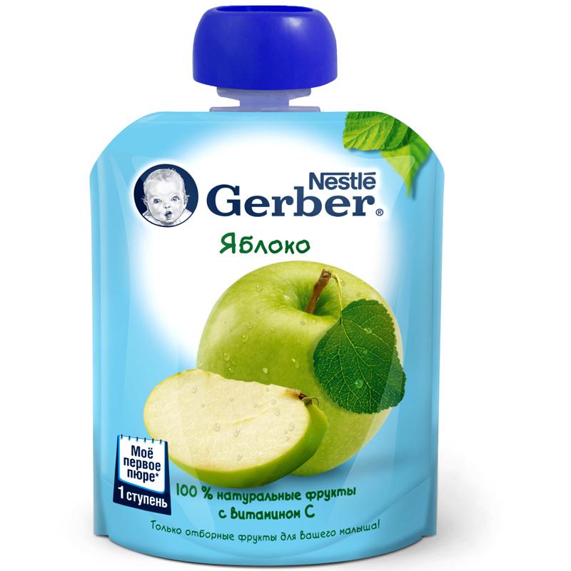 Пюре Gerber фруктовое 90 гр Яблоко (с 6 мес)<br>
