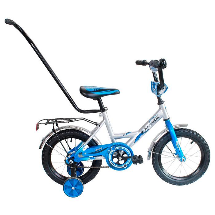 Велосипед двухколесный RT МУЛЬТЯШКА Френди 12 XB1201 с ручкой Синий<br>