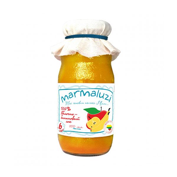 Сок Marmaluzi 200 мл Яблоко банан (с 6 мес)<br>