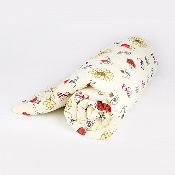 Одеяло Baby Nice стеганное файбер 300силиконизированный 105х140 Божья коровка (красный, желтый)