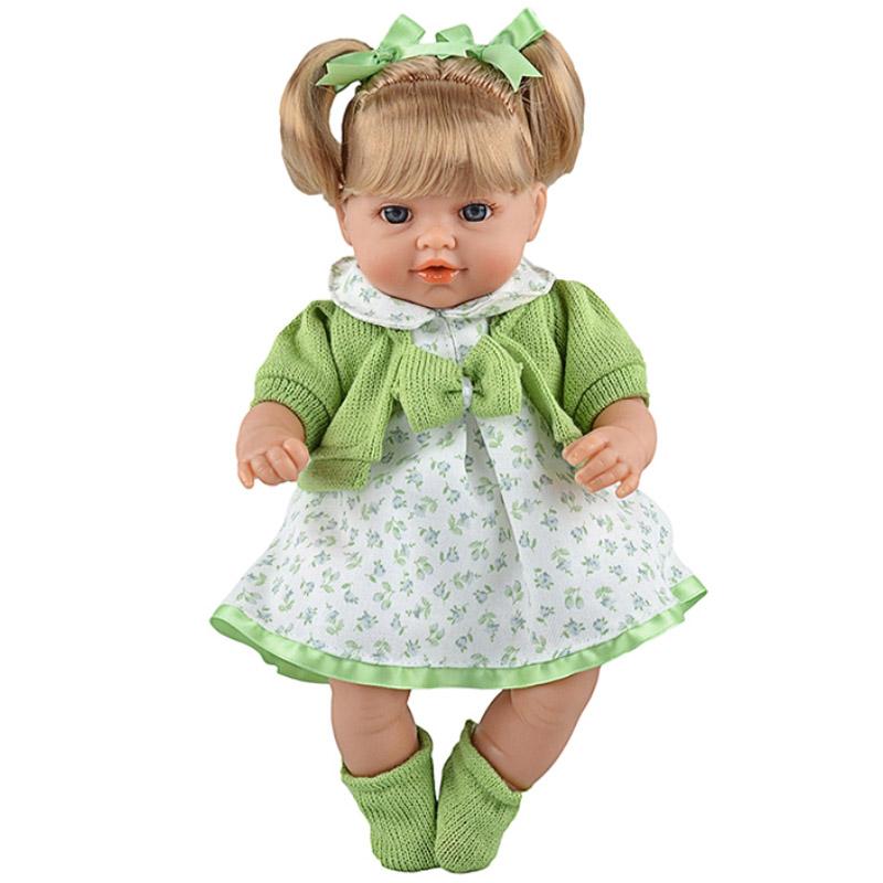 Кукла Arias 33 см Блондинка функциональная в зеленой одежке<br>