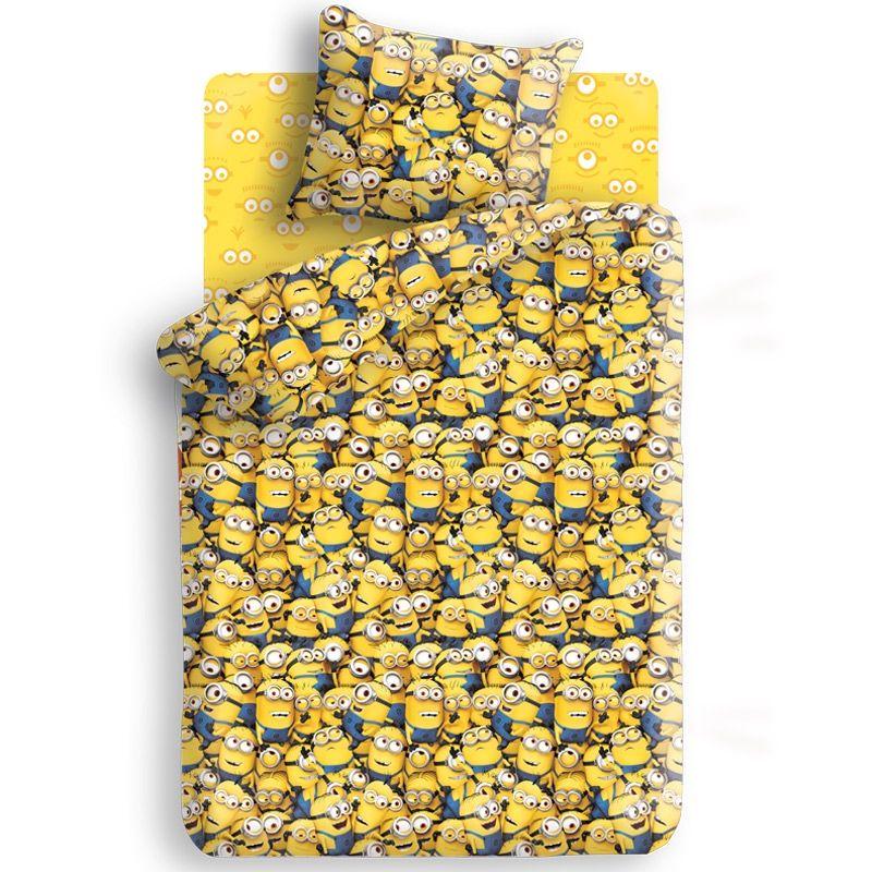 Комплект постельного белья детский 1.5 бязь Непоседа Миньоны с наволочкой 70х70 Миньоны<br>