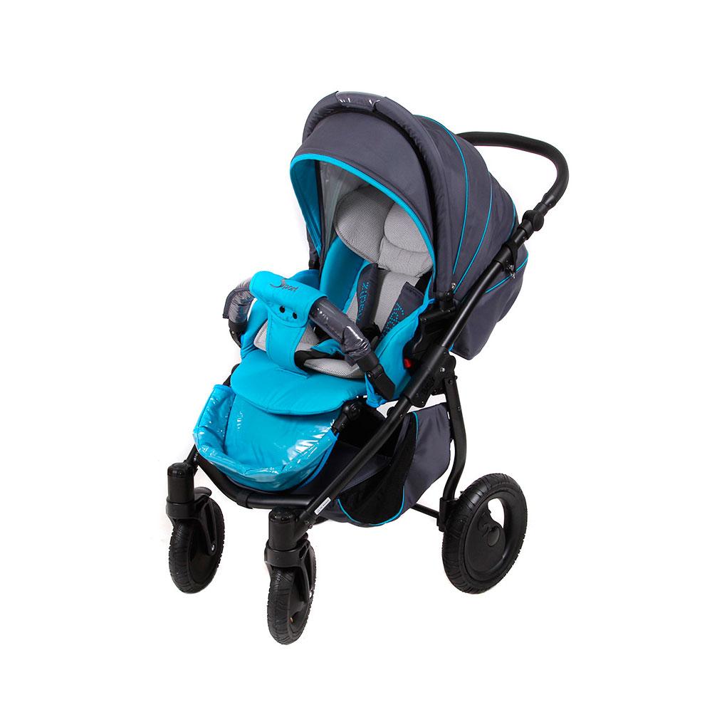 Коляска прогулочная Tutis Zippy Sport Plus Серая с синим<br>
