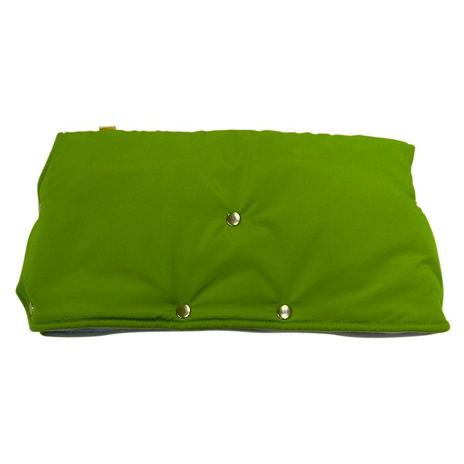 Муфта для коляски Чудо-Чадо флисовая (кнопки) Зеленый<br>